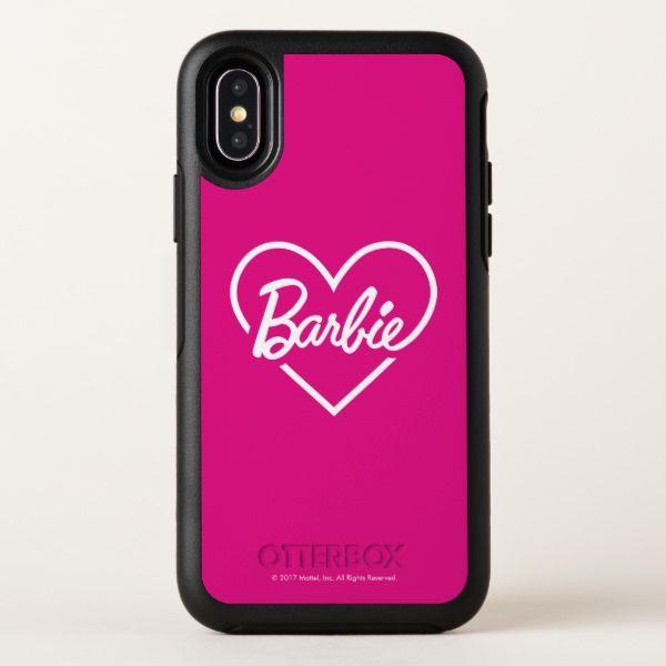 Barbie Pink Heart Logo Typography OtterBox Symmetry
