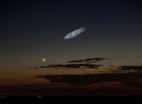 What it Would Look Like If You Could See Andromeda in the Sky. I wish we could!