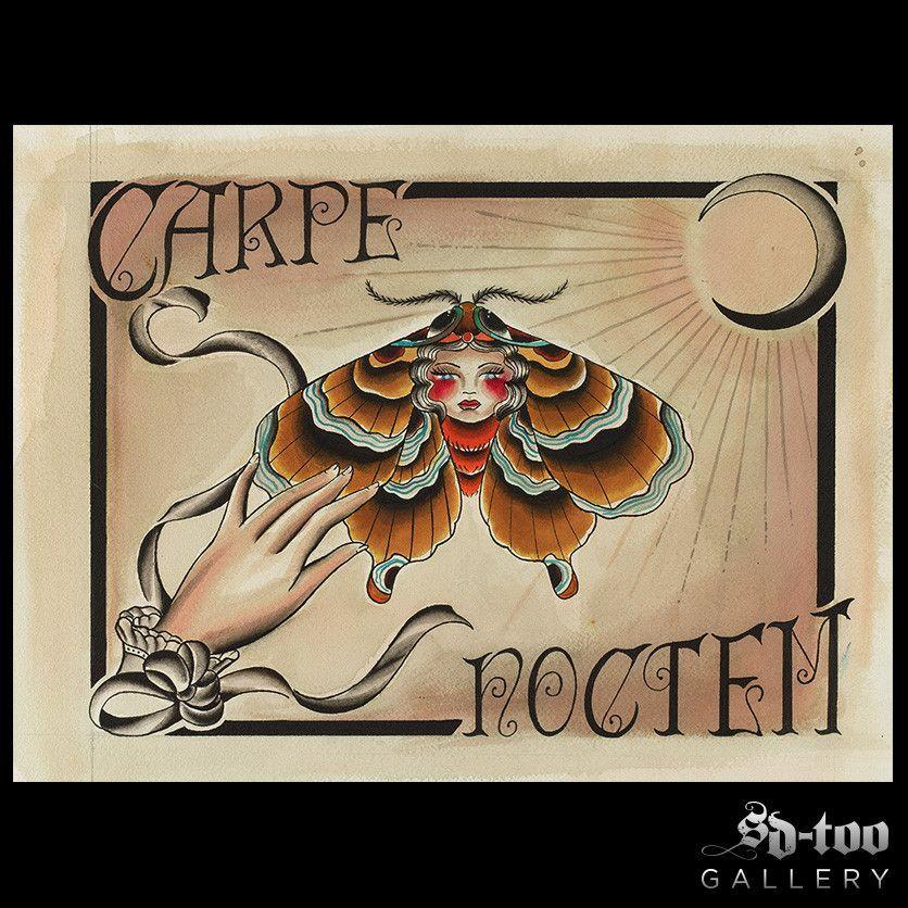 "Carpe Noctem - 11x14"""" Digital Art Print"