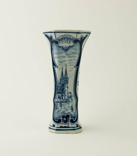 Vintage Delft Blue Vase Delft Blue And White The Delft Blue