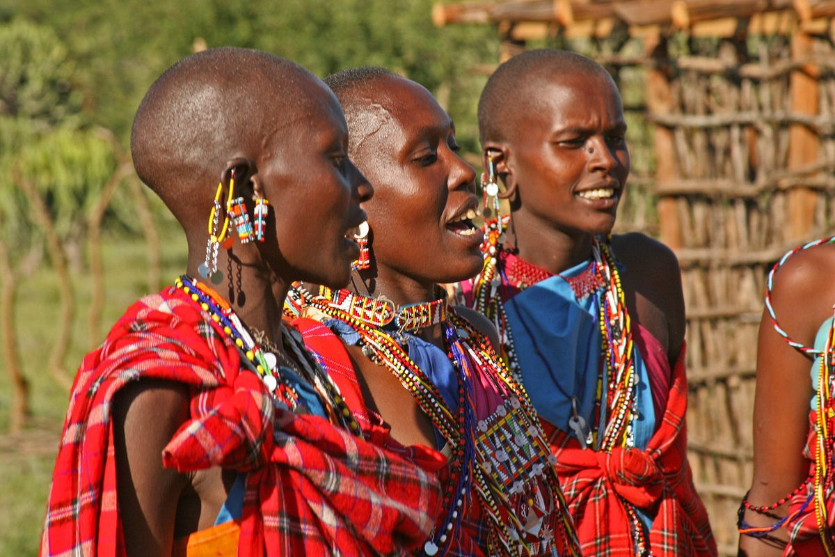 The Maasai People Of East Africa Live In Southern Kenya And - Maasai tribe wild animals attend wedding kenya