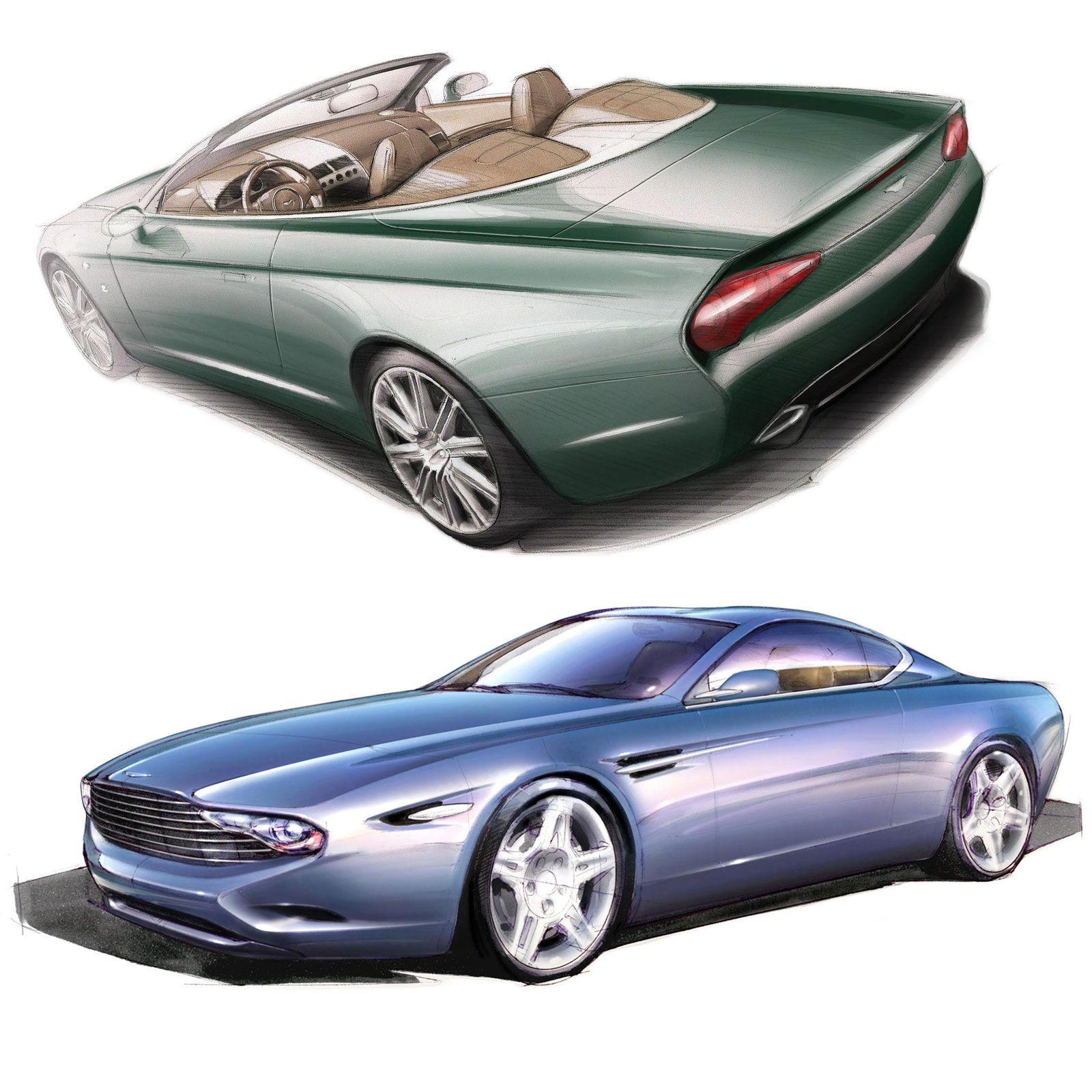 Aston Martin Sketch: Zagato Previews Aston Martin DB9 Spyder And DBS Coupé