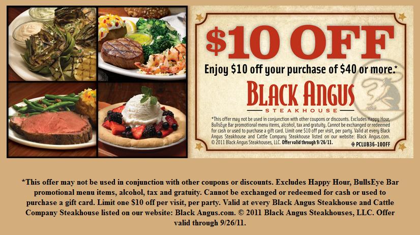 Free Printable Coupons Black Angus Steakhouse Coupons