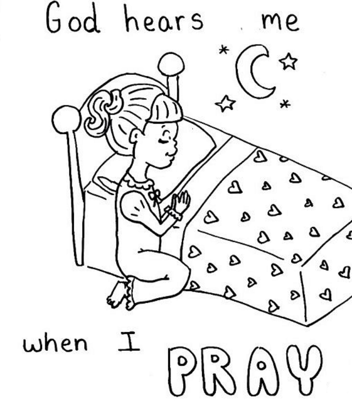 Pray coloring sheet (With images) Sunday school coloring