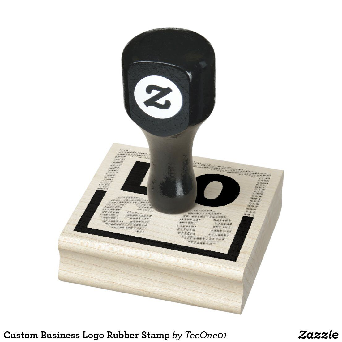 Custom Business Logo Rubber Stamp Zazzle