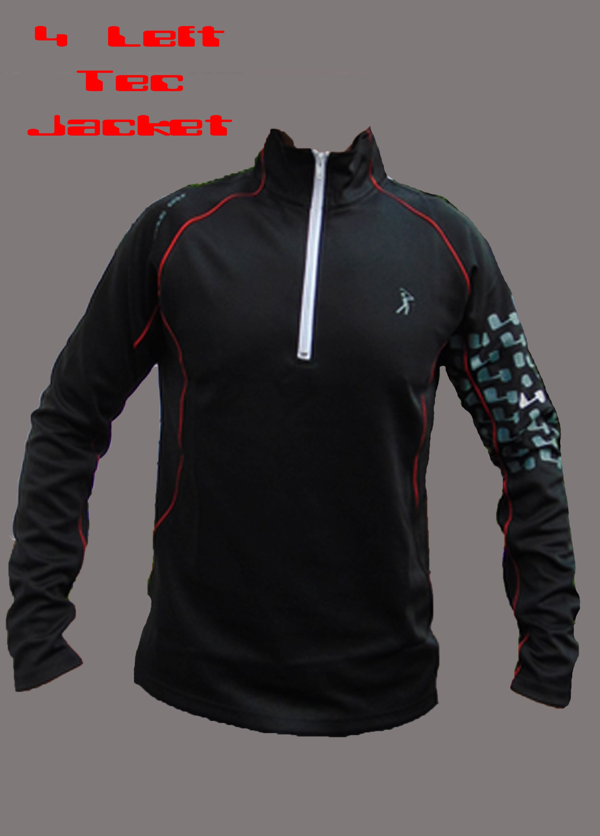 The 4 Left Tec Pullover - Black/Red