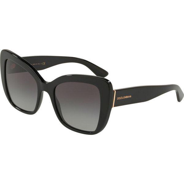 Dolce & Gabbana DG4348 501 / 8G, Plastic, Black, Sunglasses …