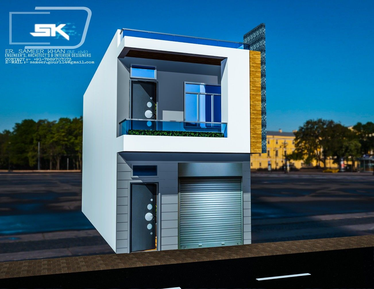 Introducing Indian Modern House Elevation In 15 Front With Shop