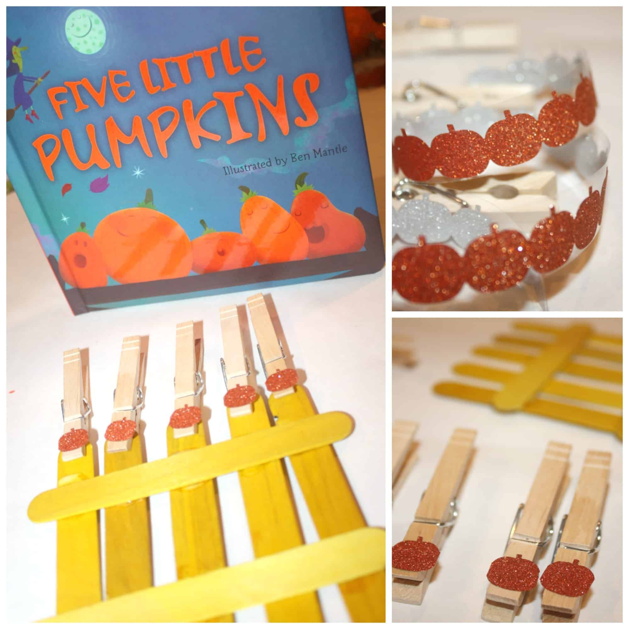 5 Little Pumpkins Fine Motor Busy Bag