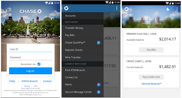 Check Out the Features for Chase's Android App Chase app