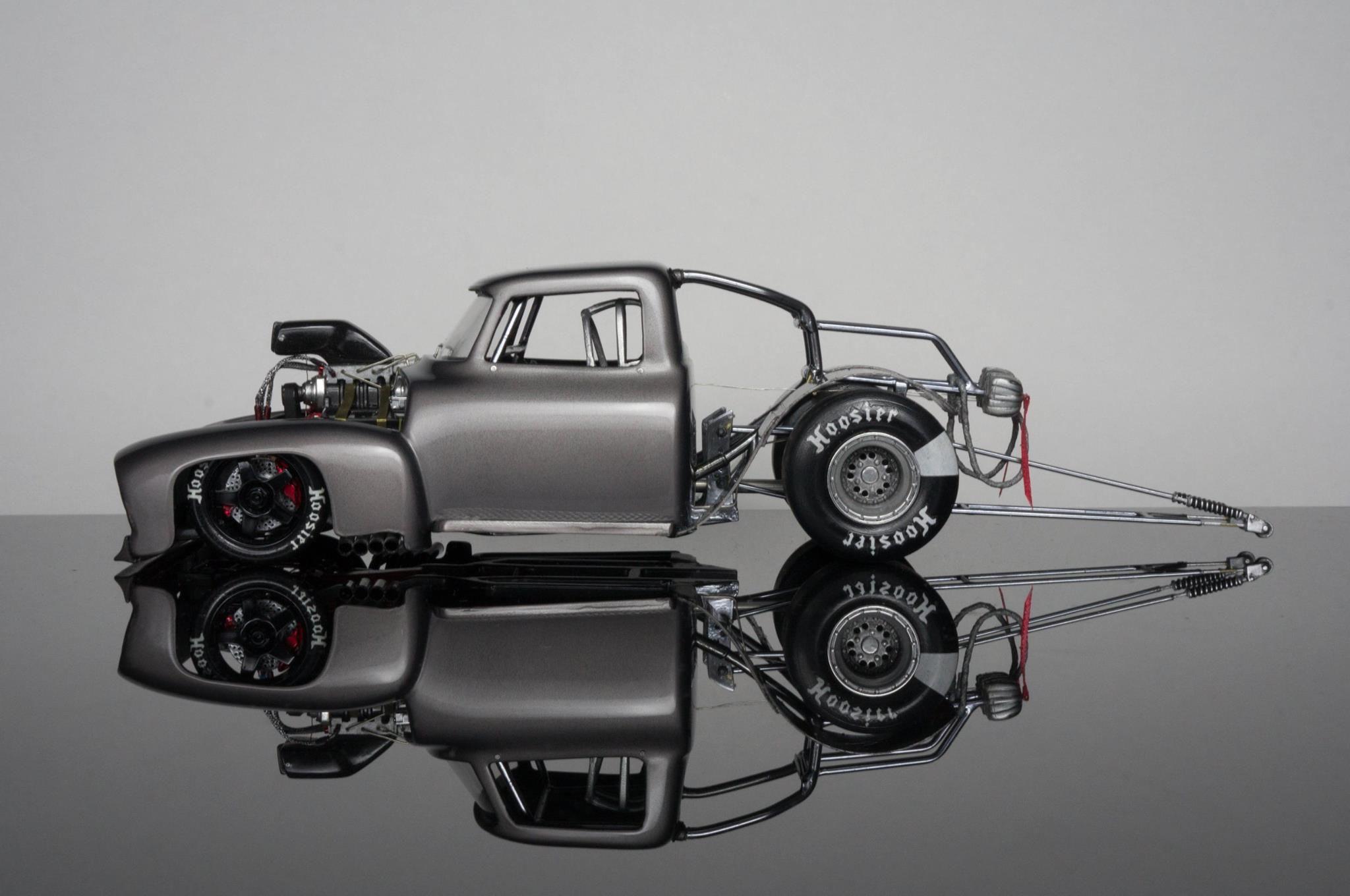 Amazing Drag Truck Model Plastic Model Cars Car Model Concept Cars