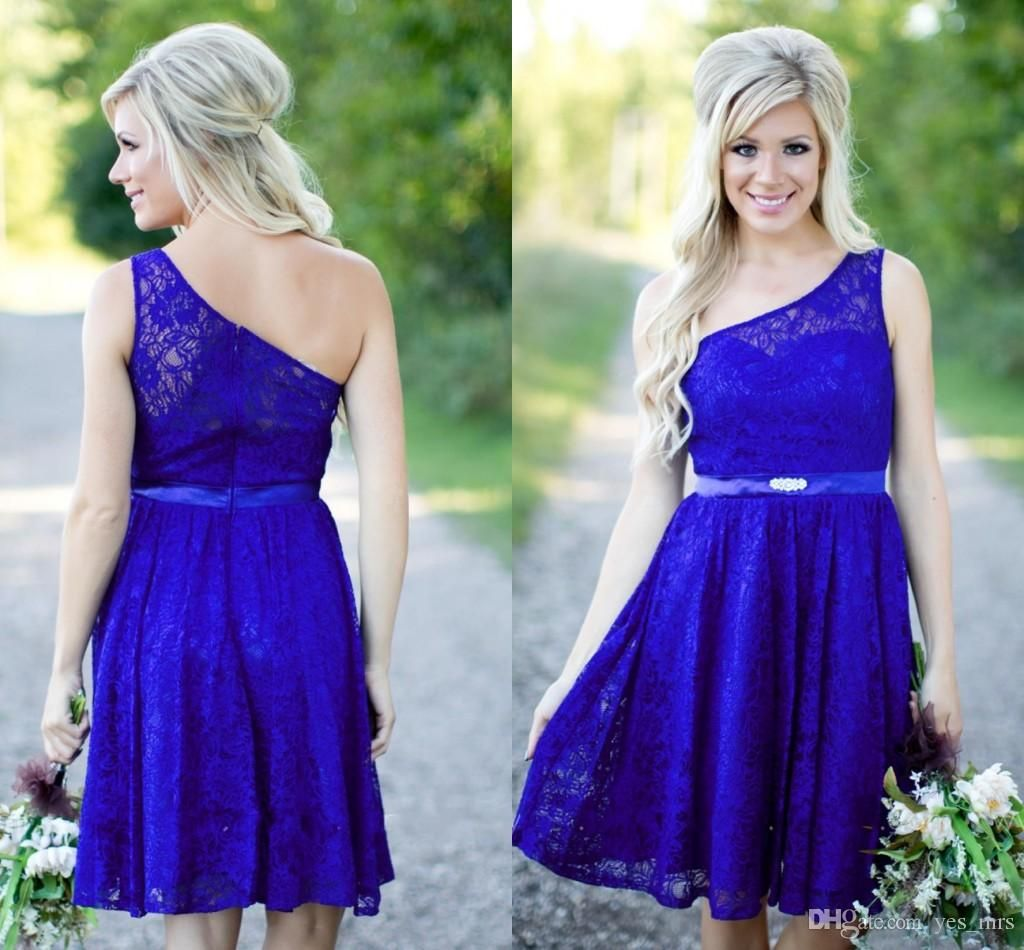Country Bridesmaid Dresses 2016 New Short For Weddings Lace Royal ...