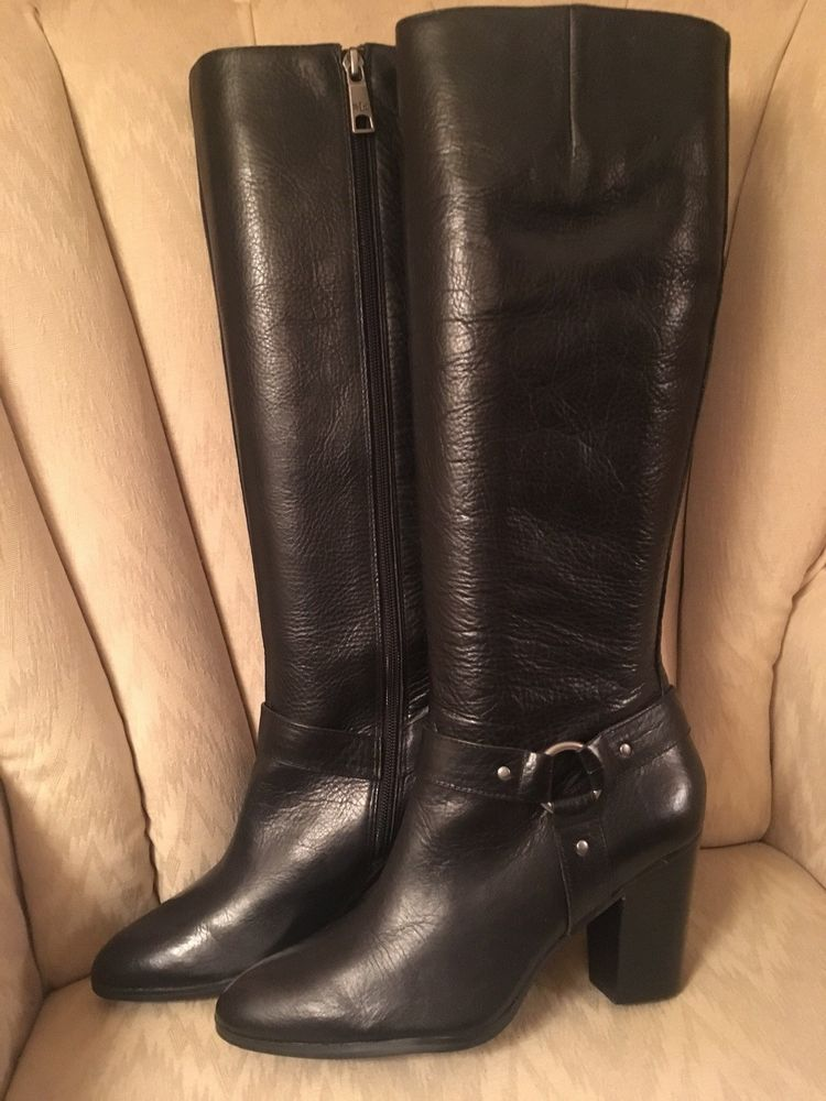 0c0fa5837 Ralph Lauren Fareeda Black Leather Tall Womens Boots Size 9 #fashion  #clothing #shoes #accessories #womensshoes #boots (ebay link)