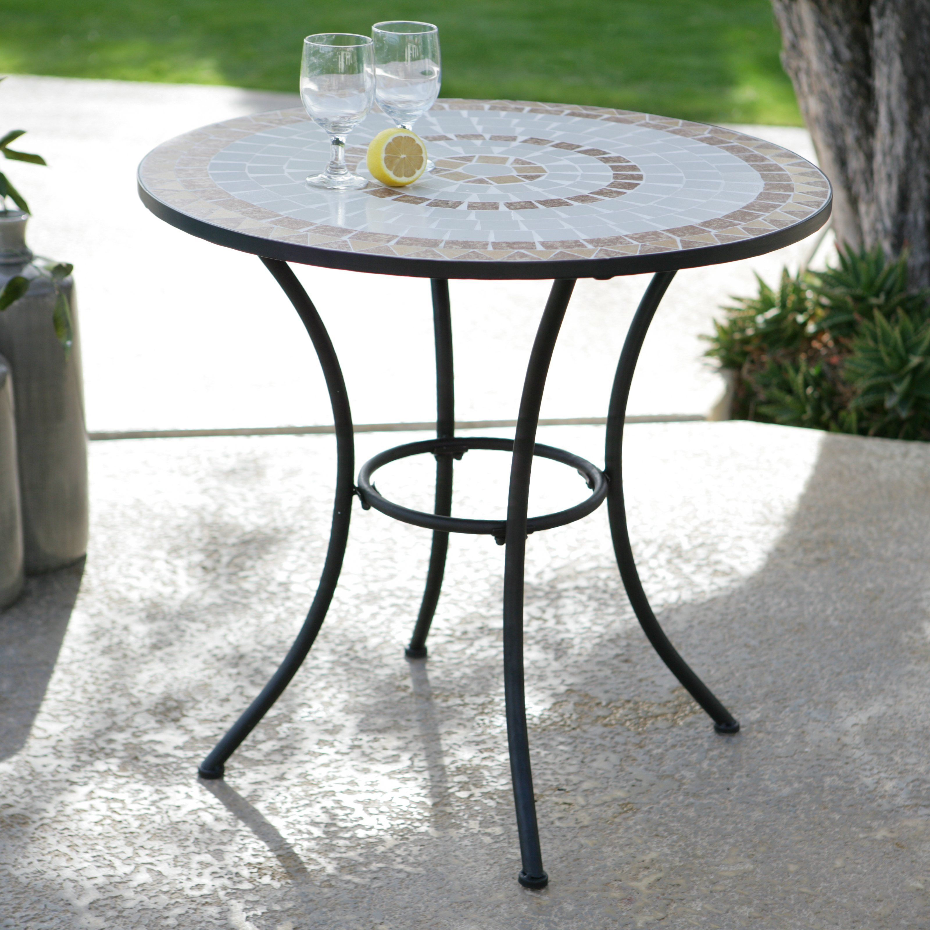 Coral Coast Sahara 30 In. Round Mosaic Bistro Table