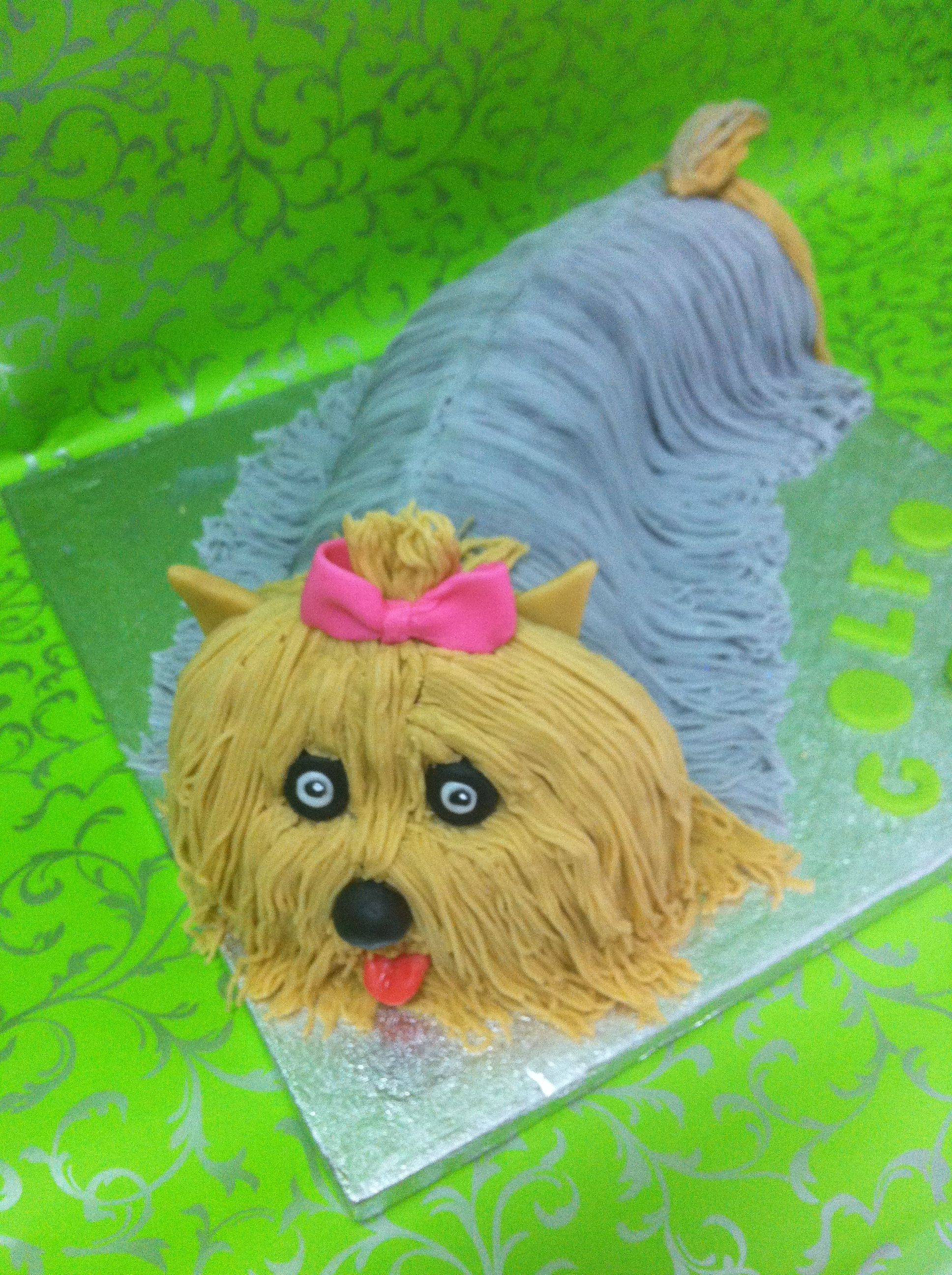 Yorkshire Terrier cake Yorkshire Terrier dog art portraits