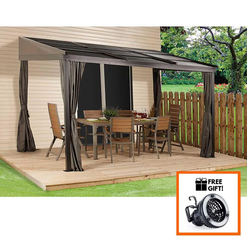 Sojag™ Francfort Wall Mounted Gazebo With Mosquito Netting