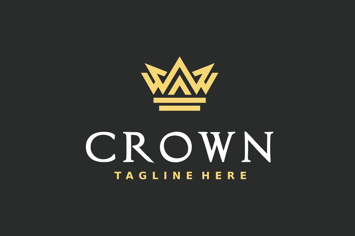 26 Elegant Crown Logo Design Template Sponsored , AFFILIATE, CrownElegantLogoTemplate