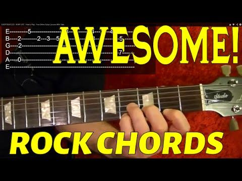 Awesome Rock Chords! Guitar Lesson | Pfwalter@gmail.com | Pinterest ...