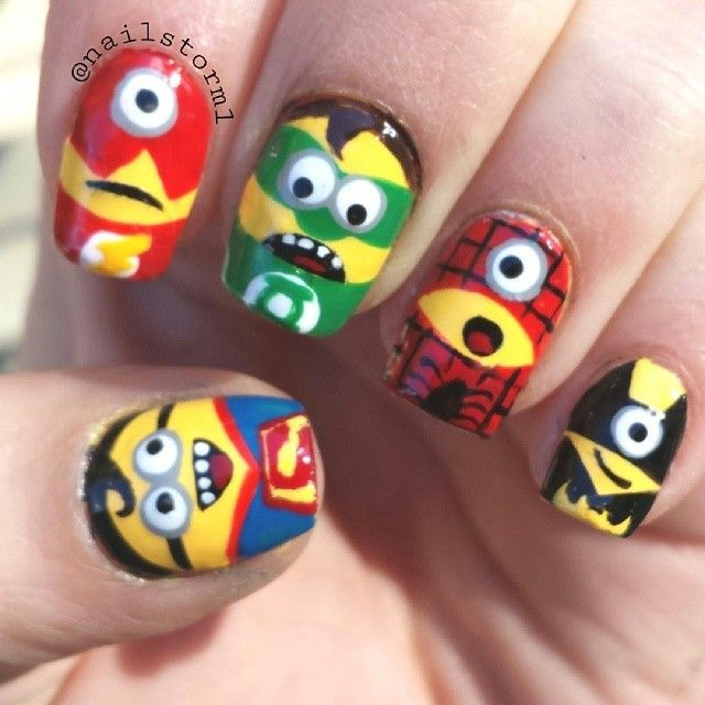 Minions AND superheros!?! I couldn\'t ask for more | Nails ...