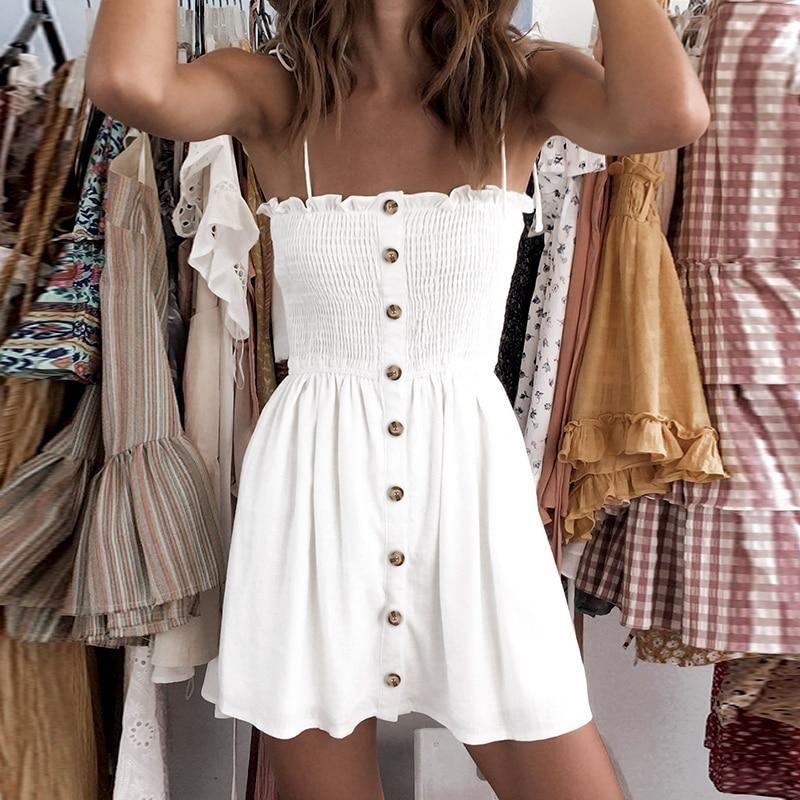 Marissa Button Down Boho Dress