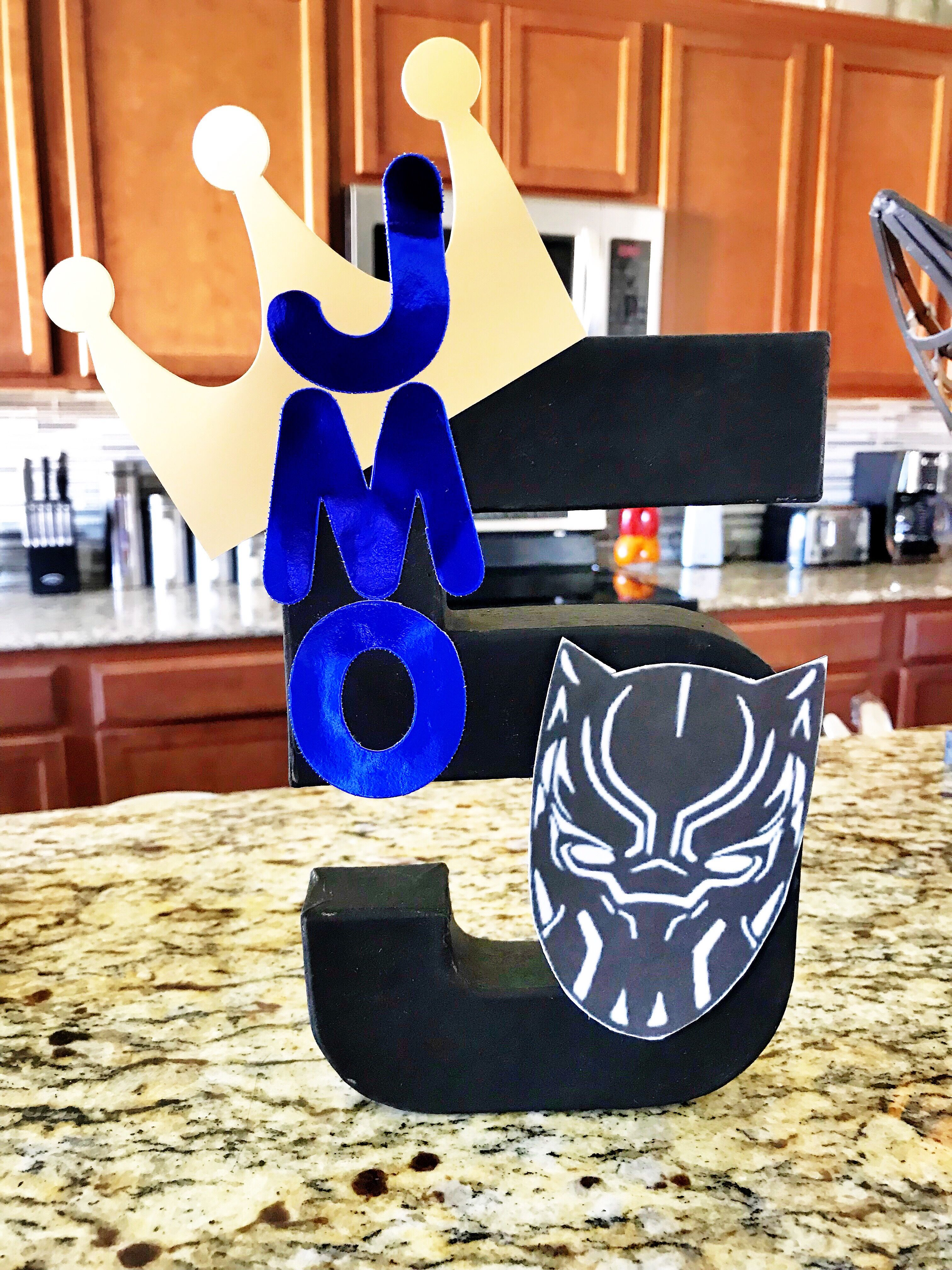 Peachy Made This For My Sons 5Th Birthday Party Blackpanther Bralicious Painted Fabric Chair Ideas Braliciousco
