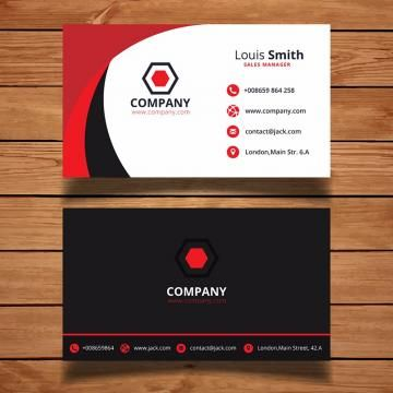 Business Card Design Template Modern Abstract Cards Creative Background Graphic Style Simpl Red Business Cards Business Card Template Business Cards