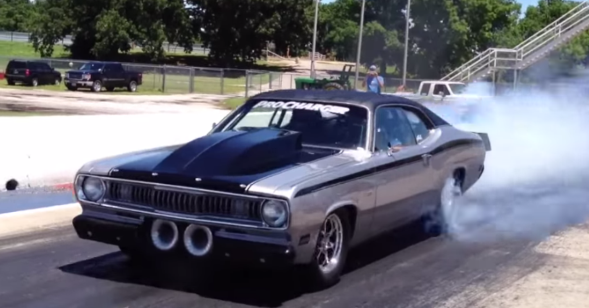 BRUTAL TWIN SUPERCHARGED 1970 PLYMOUTH DUSTER | Plymouth duster ...
