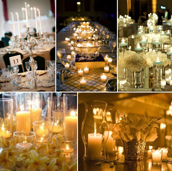 Wedding Reception Centerpieces Candles: Pinterest Pillar Candle Ideas