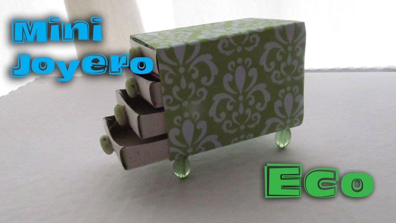 Mini joyero reciclado con cajas de cerillos manualidades for Manualidades de muebles