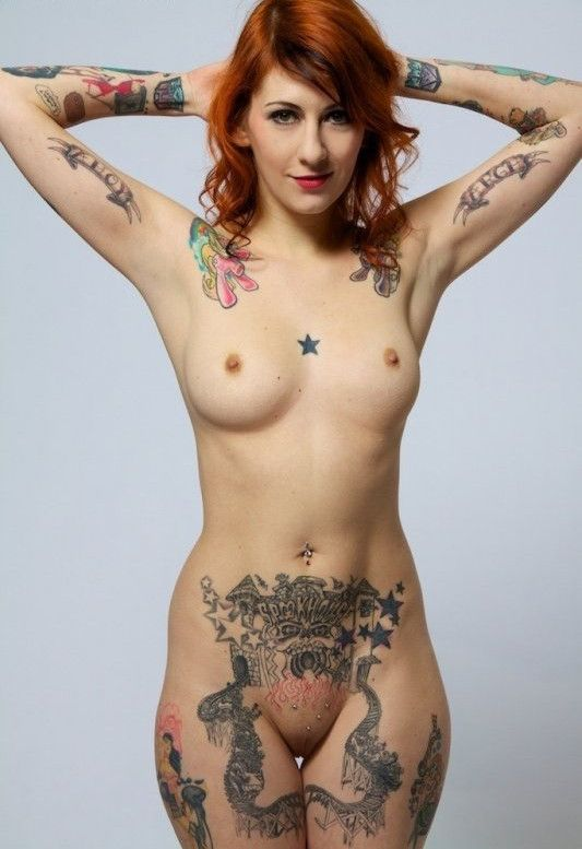 Tattoo on nude girl