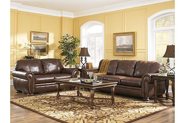 The Palmer Walnut Sofa From Ashley Furniture Homestore