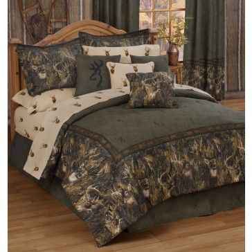 Browning Whitetails Camo Bedding Set | Comforter sets, Bed ...