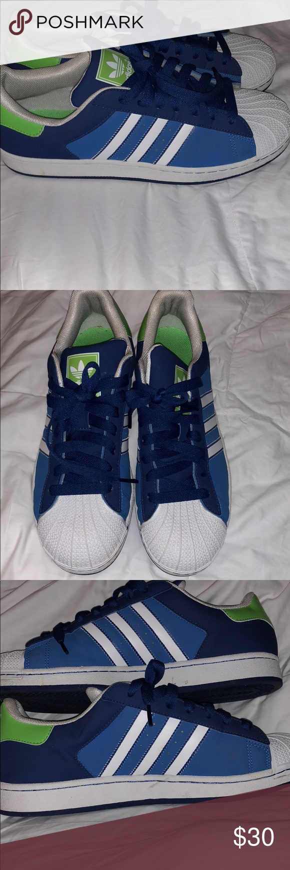 Men's Adidas Gently wore. Navy blue