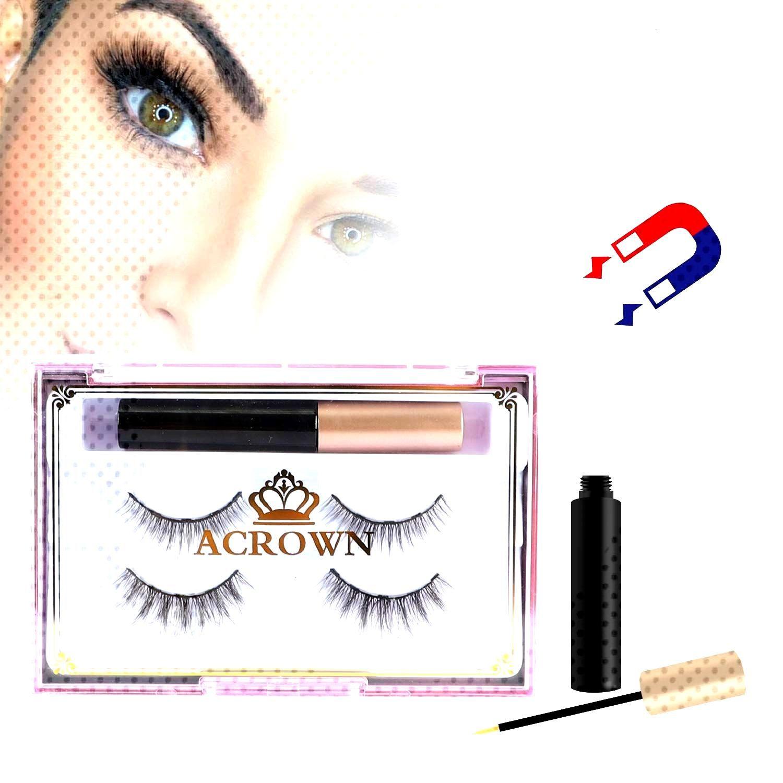 Magnetic Eyeliner and Eyelash Ki        Eyeliner magnétique et kit de cils Aspect naturel Impermé