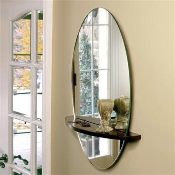 Elegant Mirror with Shelf for Hallway