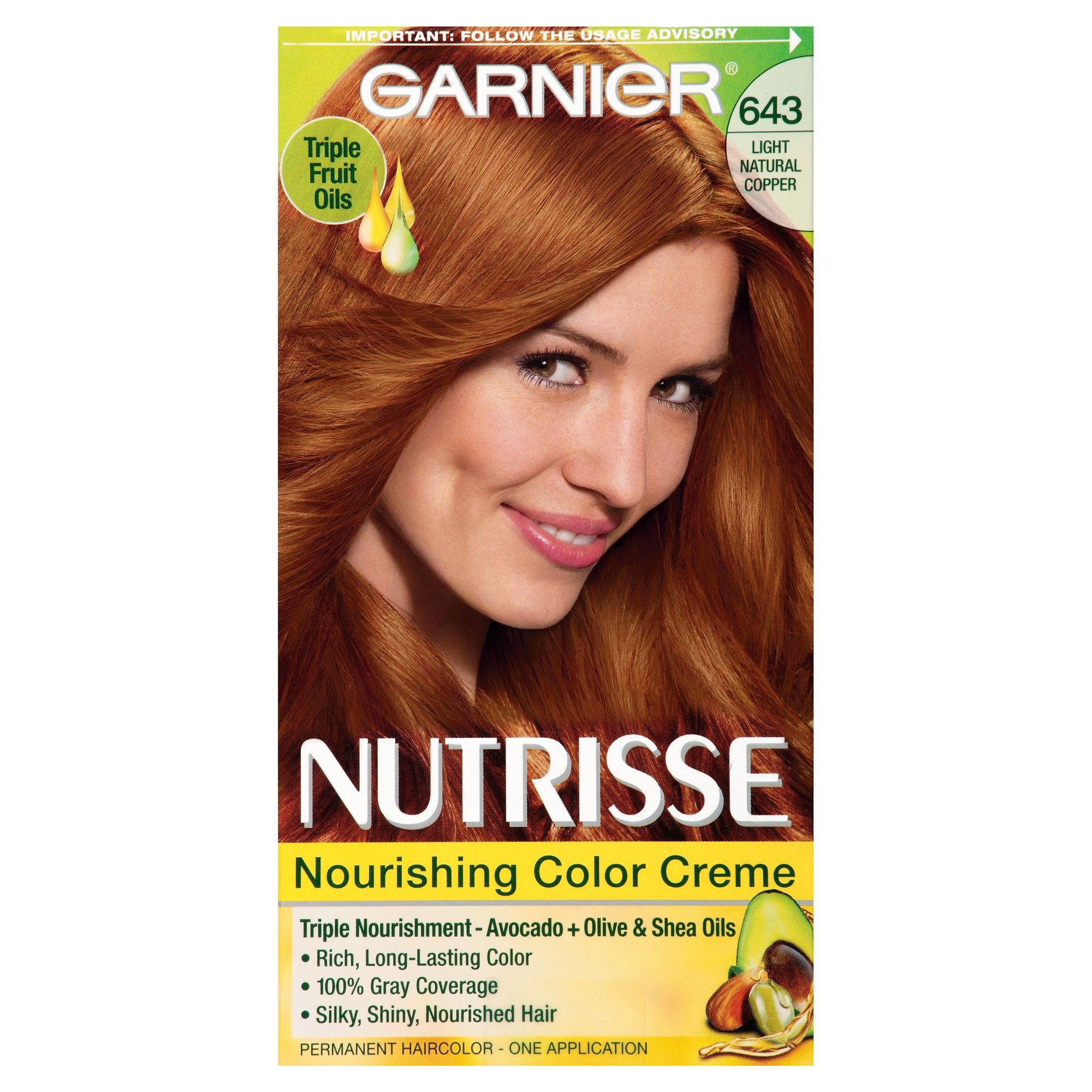 Garnier Nutrisse Nourishing Color Creme 643 Light Natural Copper