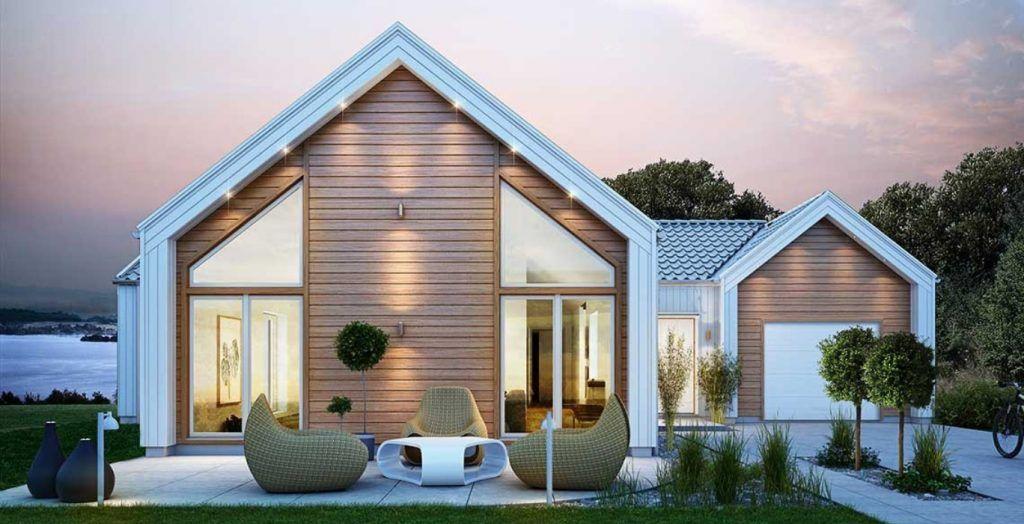 maison-bois-moderne-bicolore-toit-pente | À acheter | Pinterest ...