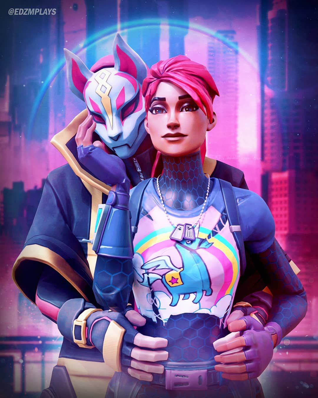 1 973 Likes 35 Comments Edzmplays On Instagram The Power Couple Of Fortnite Please Tag If Reposting My Art Gamer Pics Fortnite Character Wallpaper