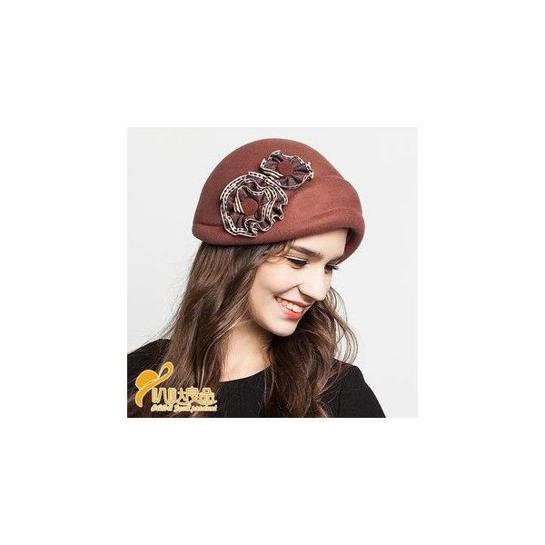 03a5e99d12809 Rosette Beret ( 43) ❤ liked on Polyvore featuring accessories
