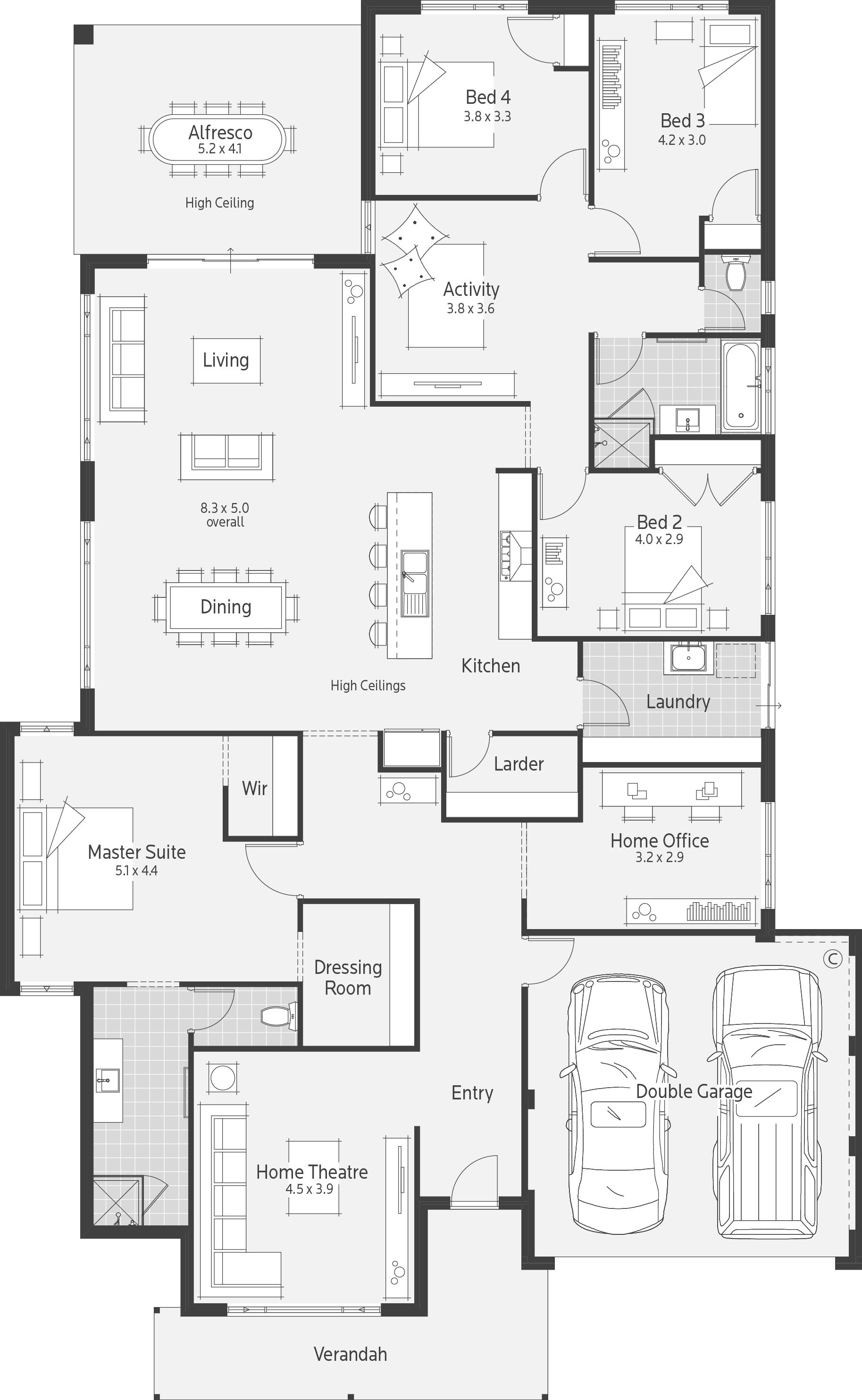 Do It Yourself Home Design: House Design, Bedroom House Plans