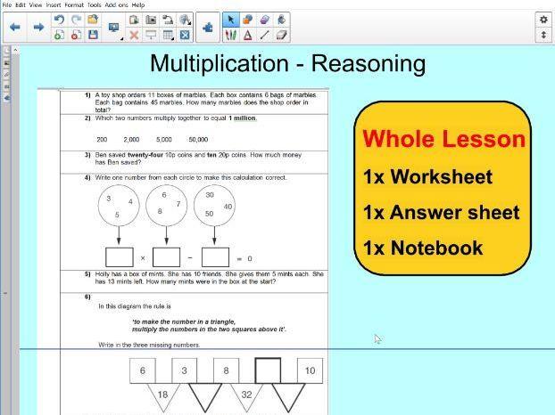 whole lesson reasoning multiplication ks2 year 5 6 ks2 maths and english worksheets. Black Bedroom Furniture Sets. Home Design Ideas