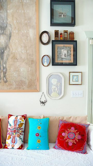 pillows + tiny frames.
