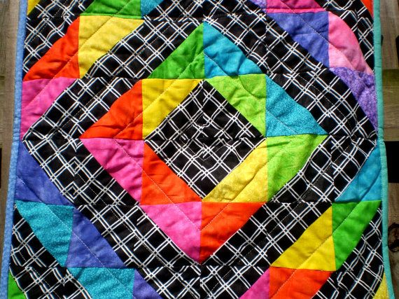 RESERVED FOR SONIAWall or tableMinirainbow by happyquilts on Etsy