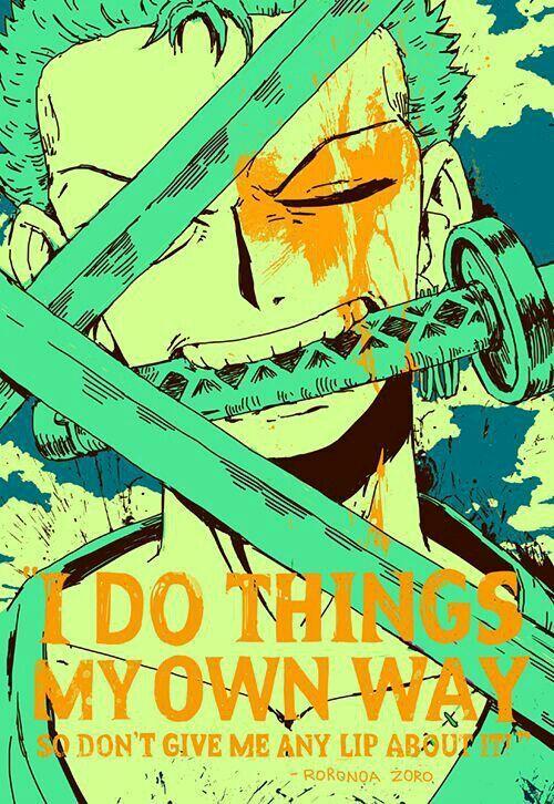 INSPIRING ZORO QUOTES | One Piece Amino