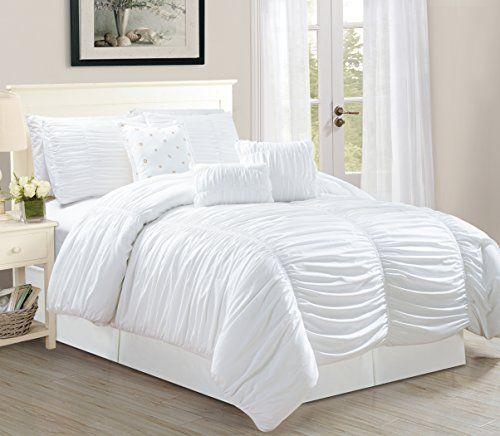 Odessa 7 Piece Tufted Ruffle Comforter Bedding Set Soft O Https