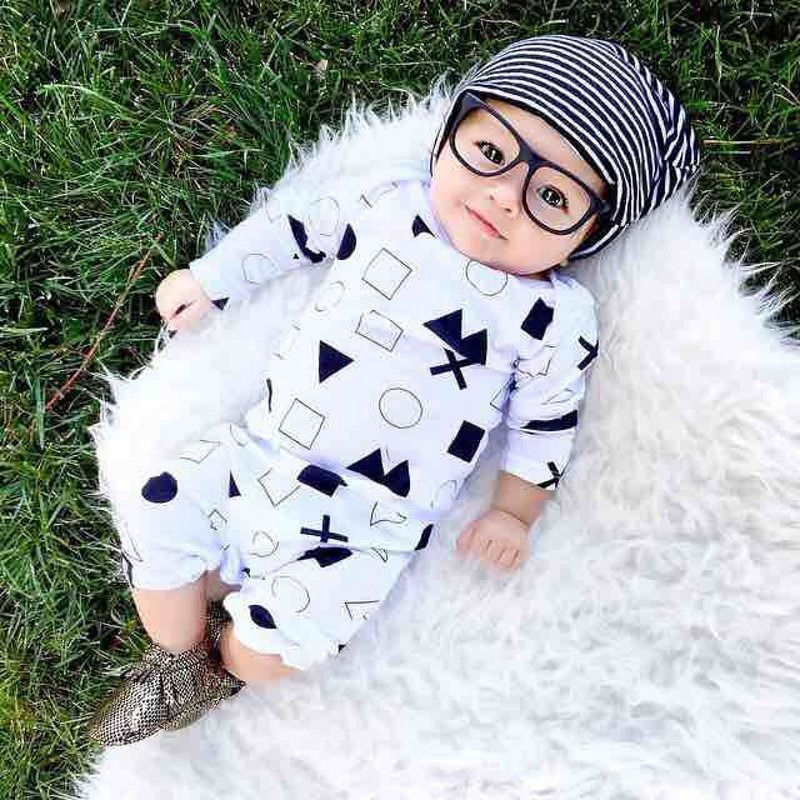 b5b79c8245689 Unisex Newborn Baby Boys Girls Symbol Cotton Clothes Bodysuit ...