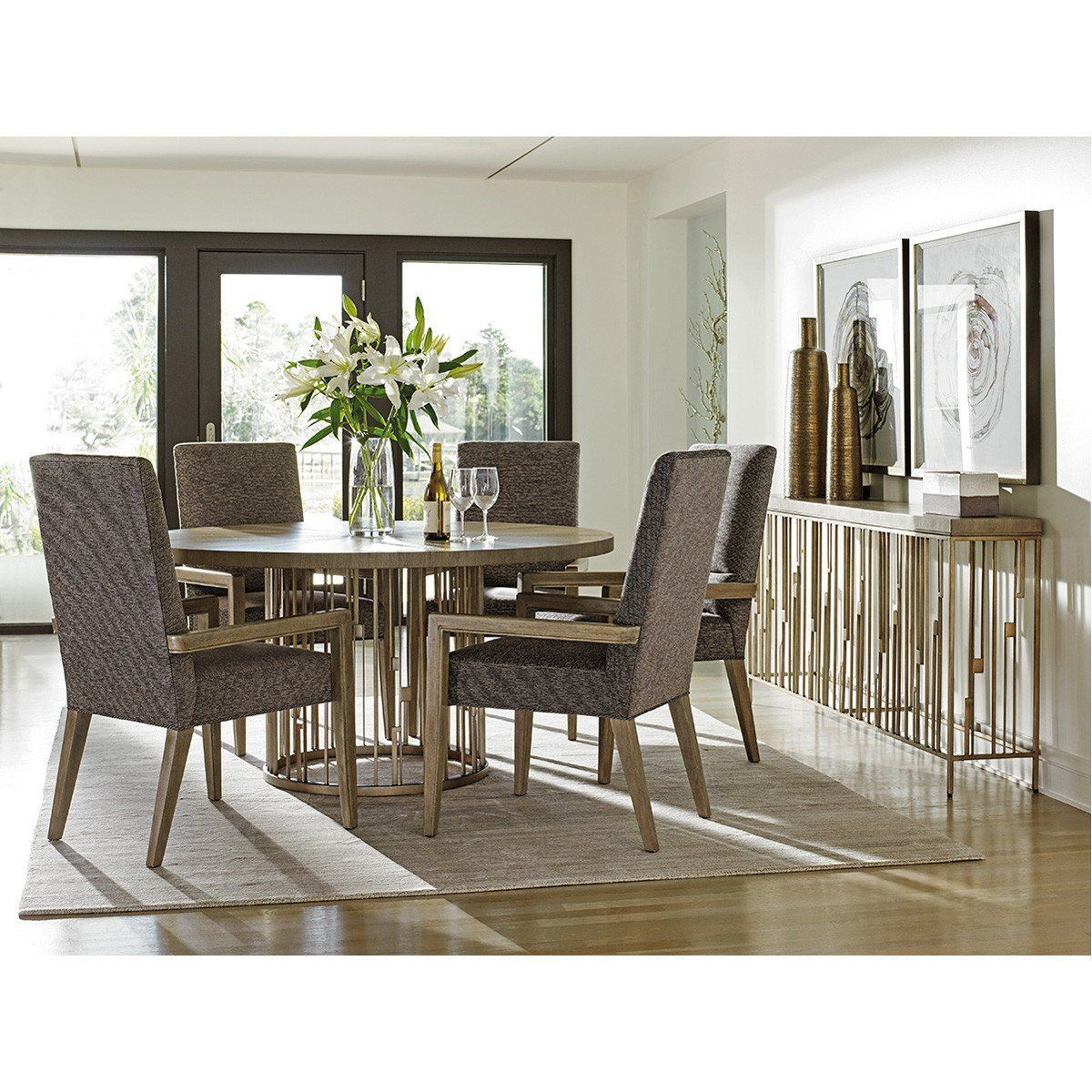 Lexington Shadow Play Studio Console Round Wood Dining Table