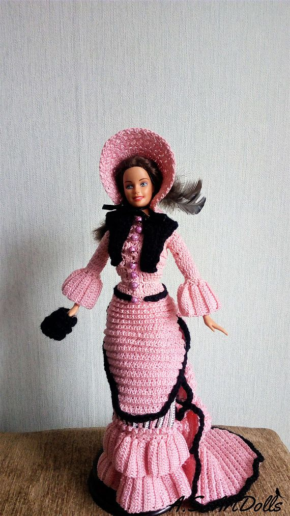 1875 Walking Suit For Barbie Paradise #3 Crochet PATTERN NO DOLL