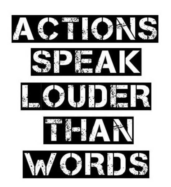 Actions vs words dating after divorce