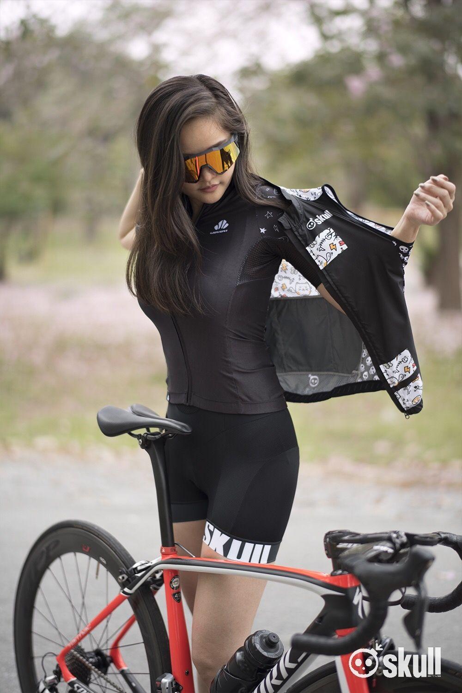 Skull Good Morning Skull Road Bike Girl Bicycle Girl